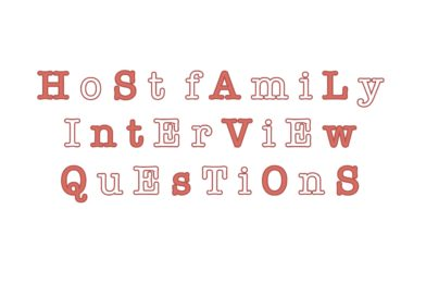 Host Family Interview -Work edition